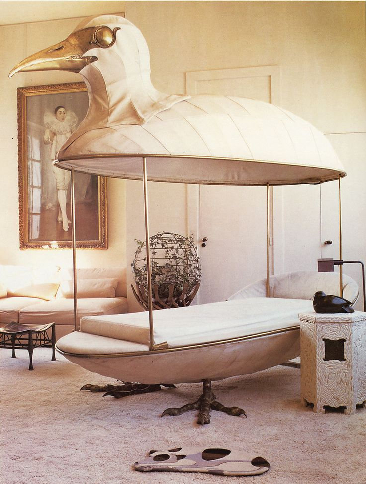 Exquisite kids bedroom |  Canopy bed sculpture by François Lalanne in an early Paris apartment by Jacques Grange. | #kidsbedroomsets Inspirations for creative minds