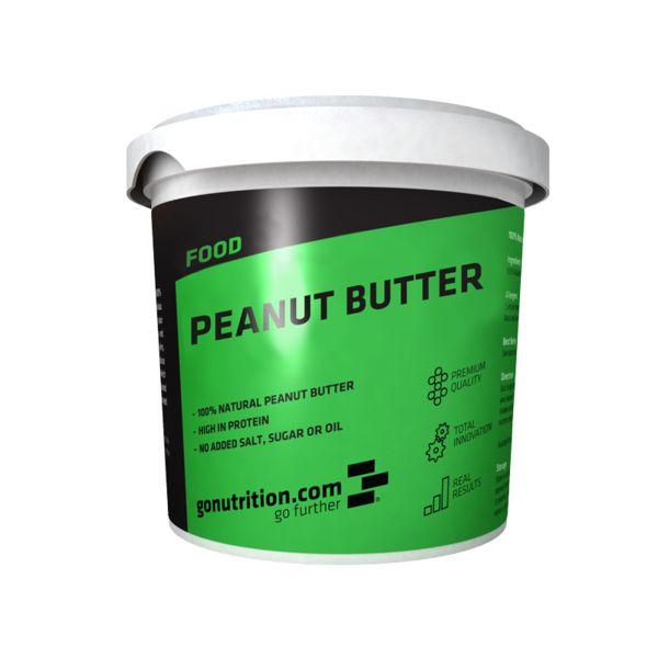GN Peanut Butter - GoNutrition - Benefícios Chave - 30% teor proteico - 100% Manteiga Natural de Amendoim. - Rica em proteínas. - Sem adição de sal, açúcar ou óleo.