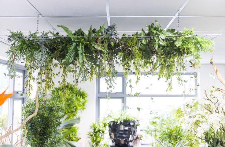 Detail kunstplanten showroom Ede.
