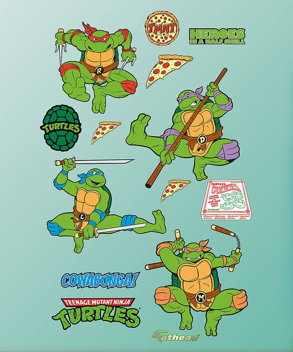Classic turtle wall stickers