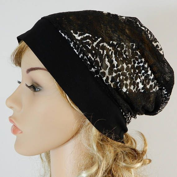 Black summer womens hat Summer lace hat Summer slouchy hat