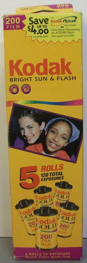 Kodak 200 Film 35mm Color Print 5 Rolls 24 Exposures Expired 05/2004 #Kodak