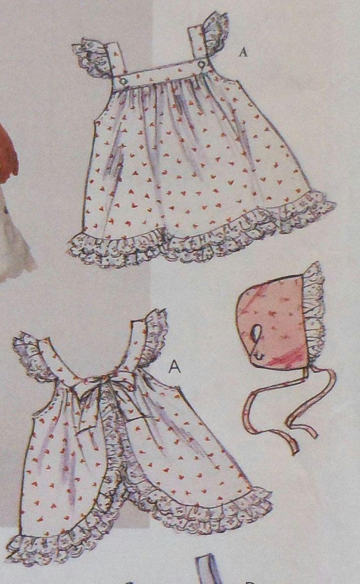 Bebé vestido de verano costura patrón solía sin por latenightcoffee