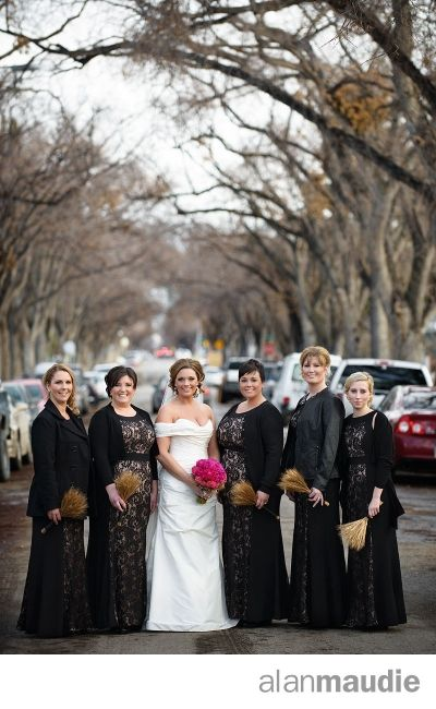 Calgary, Winter, Wedding, Bridsemaids