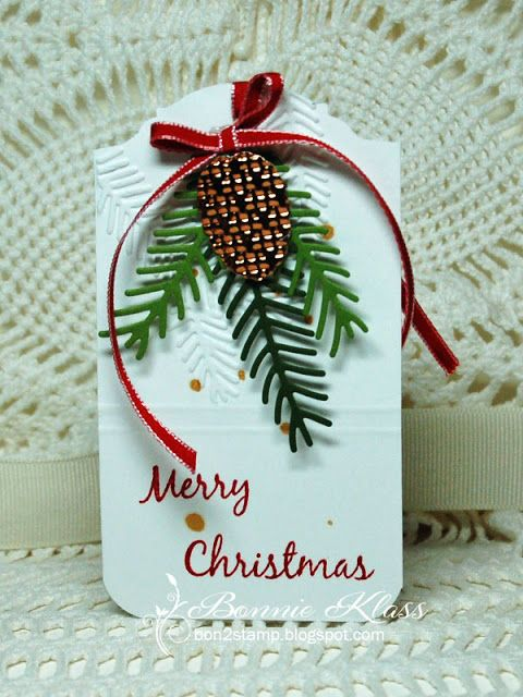 Stamping with Klass: Snowy Tree Tag