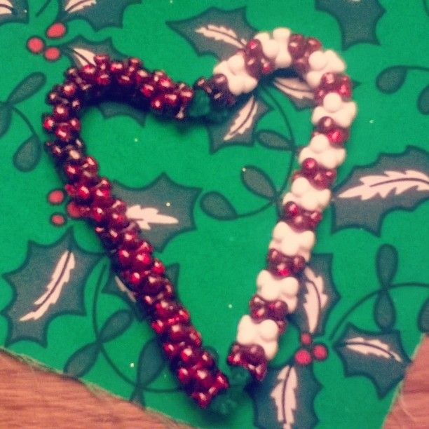 Candycane ornaments  #handmadechristmas #handmade #Christmas