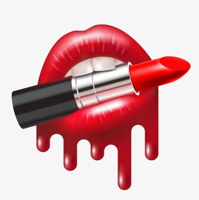 Lipstick Bite Buckle Creative Hd Free Lipstick Clipart Lipstick