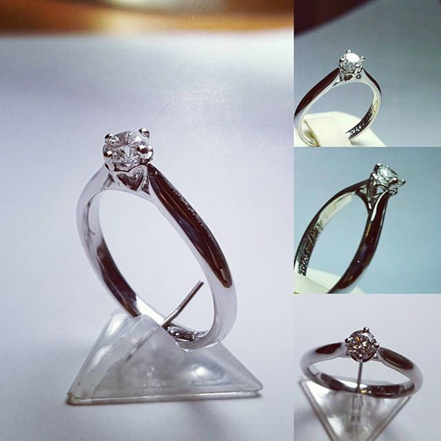 White gold engagment ring with 4 small hearts on a side and 0.35 ct diamond. #goldsmith #jewelryaddict #whitegold #blingbling #eyecatching #custommade #jewelrydesign #jewelry #sobeautiful #diamonds #amazing #beauty #hearts #sayyes #design  #accessories #fashionjewelry #engagementring #perfection #togetherforever #ring #stone #diamondsareagirlsbestfriend #eternallove #elegant