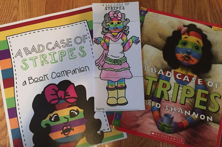 A Bad Case of Stripes Book Companion | First day of school ...