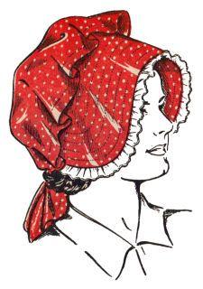 bonnet pattern and apron