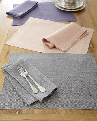 """""""Herringbone"""" Placemats & Napkins by SFERRA @Horchow. #Horchow"""