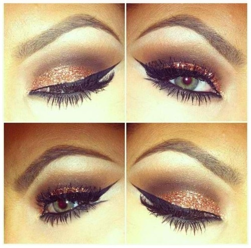 Copper and Brown Eyeshadow-Great for brown, green and hazel eye colors