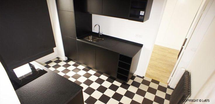 les 25 meilleures id es de la cat gorie sol en damier sur pinterest tages carreaux sol de. Black Bedroom Furniture Sets. Home Design Ideas