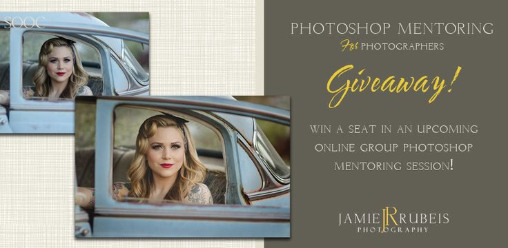Win a seat in a group online Photoshop Mentoring Session with Jamie Rubeis Photography.