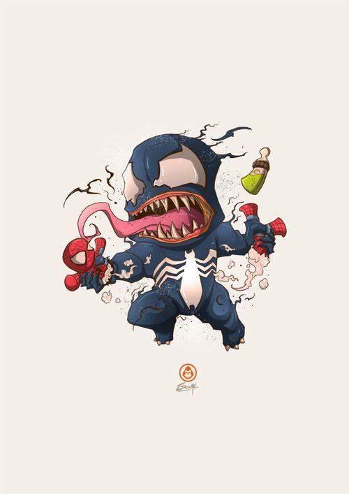 """theamazingpeterbenjaminparker: """"Baby Venom Temper-tantrum by~ Adhitya Zulkarnaen """""""