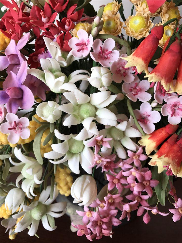 Gum paste flannel flower