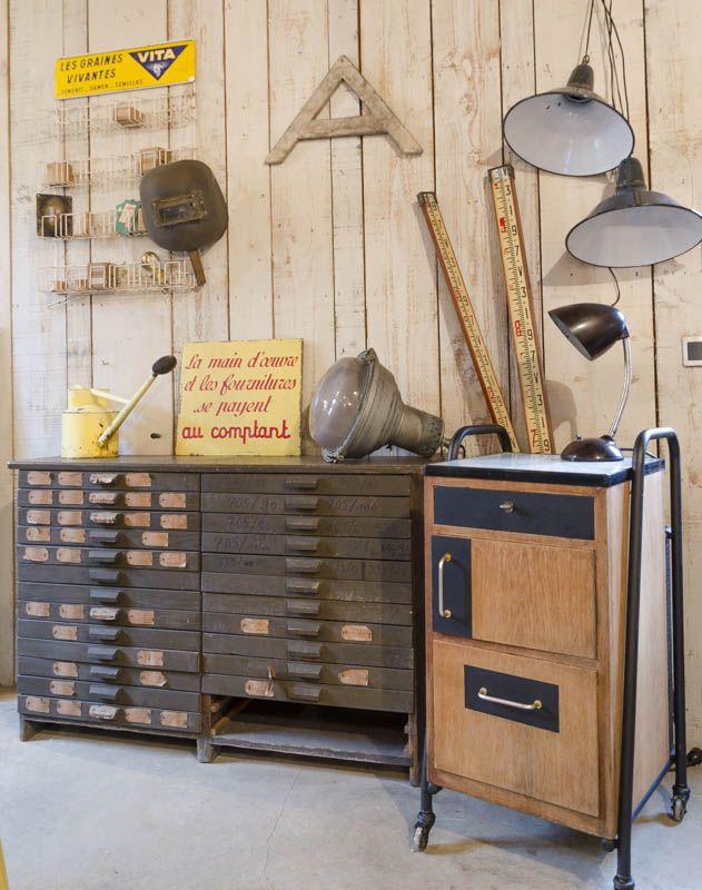 17 best images about brocante on pinterest industrial interior design asse - La brocante industrielle ...
