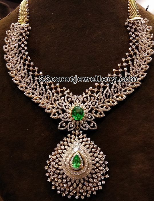 Glorious CZ Necklace with Jhumkas
