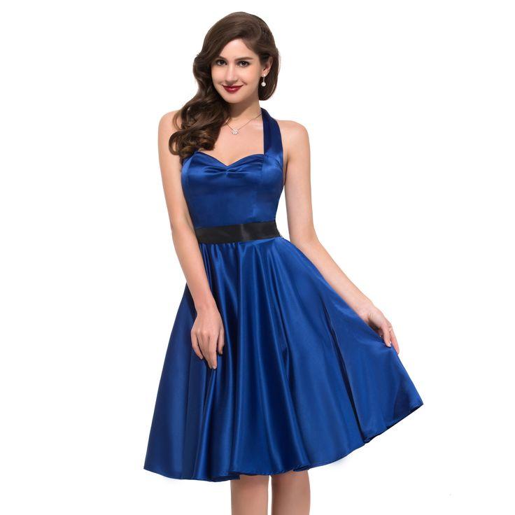 Elegant Retro Vintage Swing Bridesmaid Dress