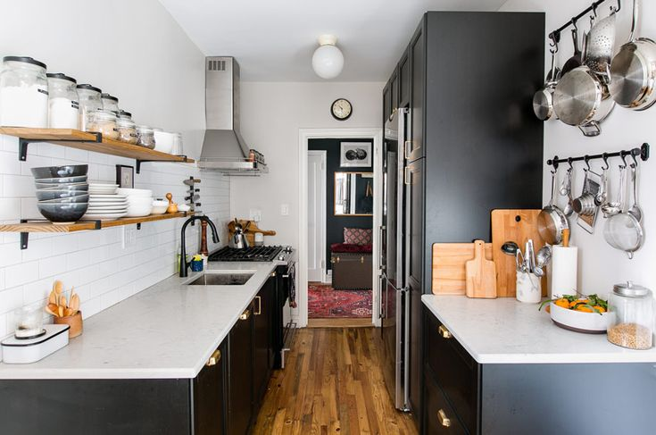 The Kitchen Also Features Contrasting Colors More Of This Brooklyn Tour On Design*Sponge