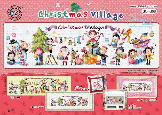 Ehi, ho trovato questa fantastica inserzione di Etsy su https://www.etsy.com/it/listing/539925779/christmas-village-schema-punto-croce