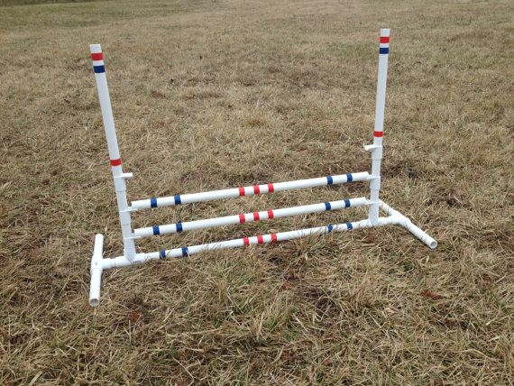 Bunny Hopping Hurdle or Small Dog Agility Jump by Zippydogs