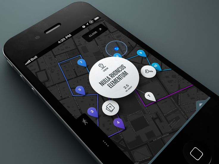 Map Pin Bubble *Tapped* by Rally Interactive (via Ben Cline)