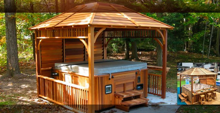 19 best images about gazebo kits and hot tub shelters on for Spa gazebo kits