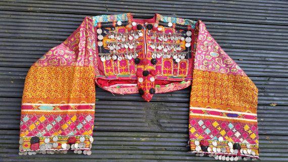 Vintage Silk Pashtun Dress Top Kakar Dress With by KavanaEmporium