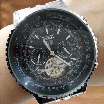 JARAGAR F120506 Fashion Automatic Mechanical Watch Stainless Steel Strap Men Wrist Watch at Banggood