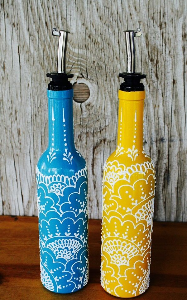 Diy Wine Bottle Painting Ideas For Home Decor Bottle Painting Wine Bottle Crafts Diy Bottle Crafts