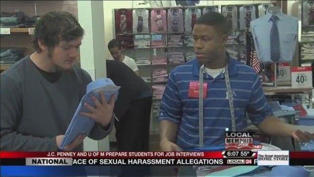 Local College Students Shop For Wardrobe Attire To Prepare For The Job Field #college
