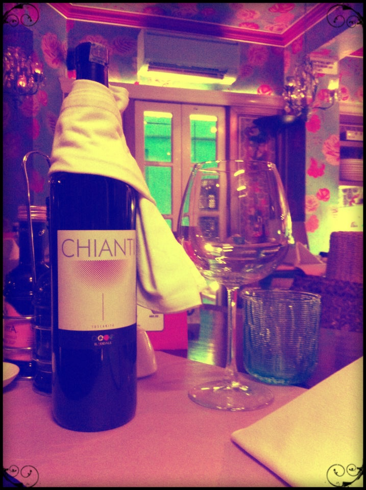 A bottle of Chianti wine- Perfect for a romantic evening at Latitude 28 :)