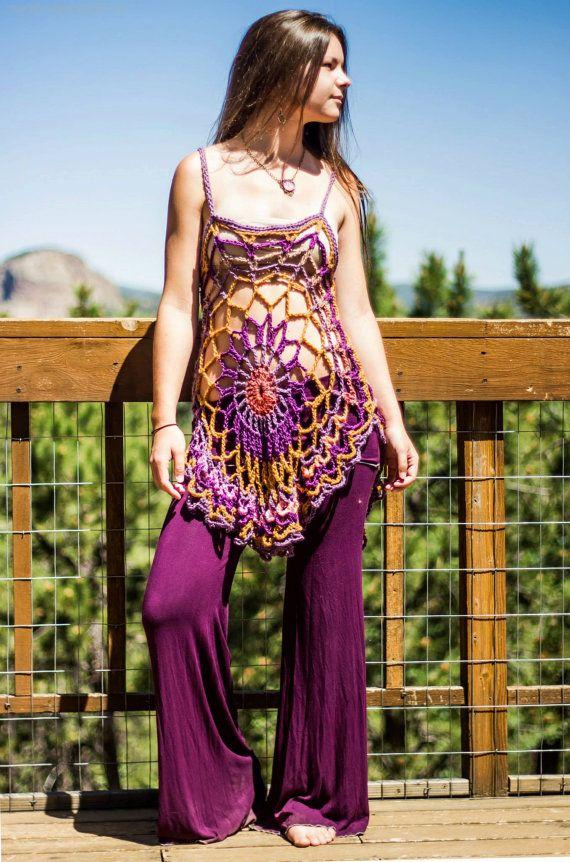 Crochet mandala tunic /dress / swimsuit door aMandalaCreations, $60.00
