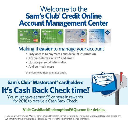 Welcome To The Sam S Club Credit Online Account Management Center