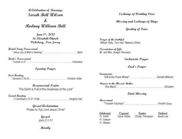 Baptist Wedding Ceremony Outline