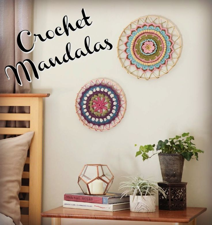 Love of Crochet Spring 2017 is full of creative ways to use crochet mandalas, from elaborate wearable mandalas to the simplest: mandalas used as wall hangings. The Daisy Chain Mandala and the Desert Flower Mandala are great projects to work on your crochet chart reading skills as well!
