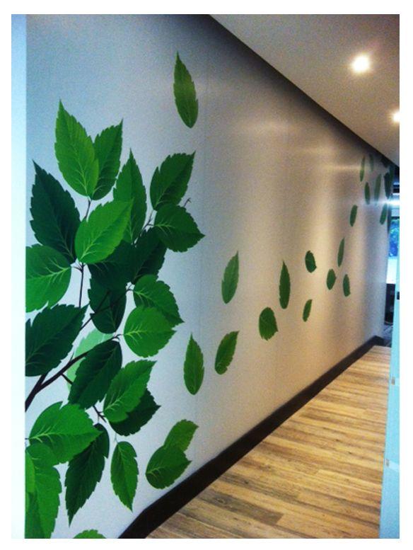 Mural que instalamos para la oficina de Argos en Santillana