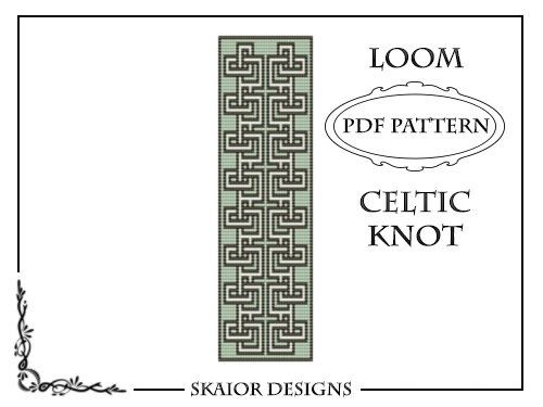 Loom Beading Pattern Loom Cuff Bracelet Knotwork Celtic by