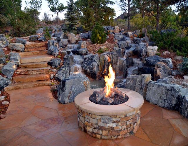 124 best feuerstelle bauen images on pinterest backyard ideas eine feuerstelle am pool - Versunkene Feuerstelle