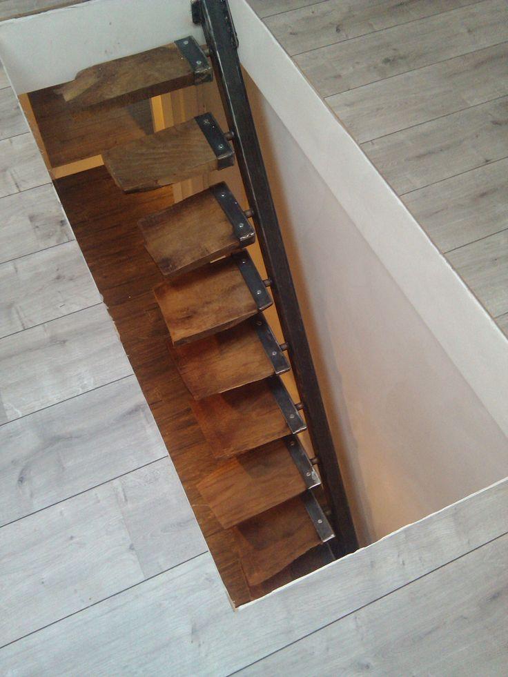 metal oak stairs