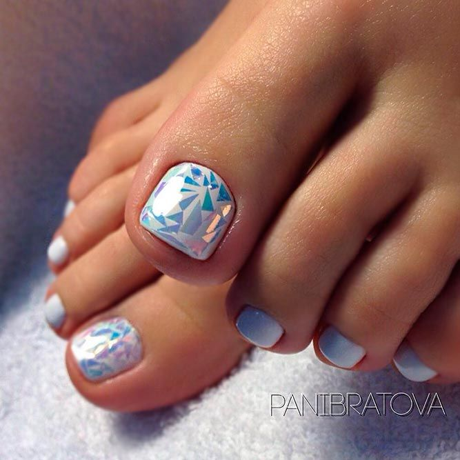 21 Chic Toe Nail Designs to Complete Your Image ❤ New Nail Designs for Toes to…