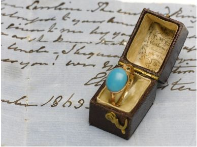 The ring was Jane Austen's and on her death it became to property of her sister, Cassandra.