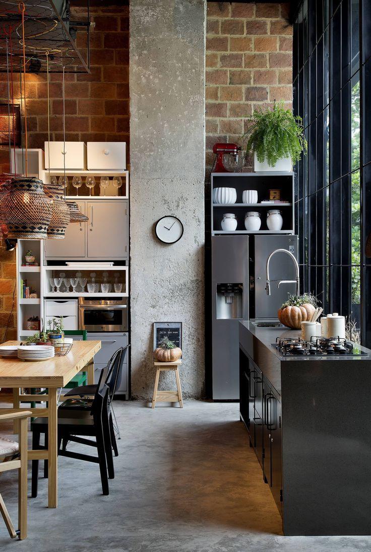 High ceiling kitchen