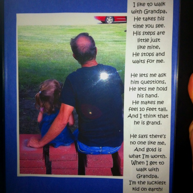 Fathers day frame for Grandpa