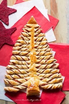 Christmas tree puff pastry- Make savoury with pesto or sweet with nutella (put filling between two sheets, cut into tree shape, cut strips and twist)