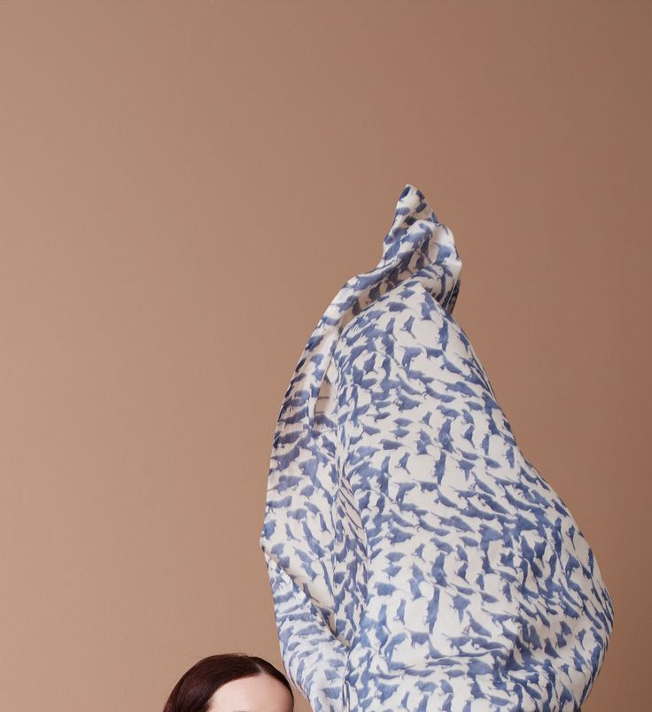 Birdy scarf from summer 2016 collection. www.mettemoller.no Photo: Siren Lauvdal, Styling Pauline Nærholm