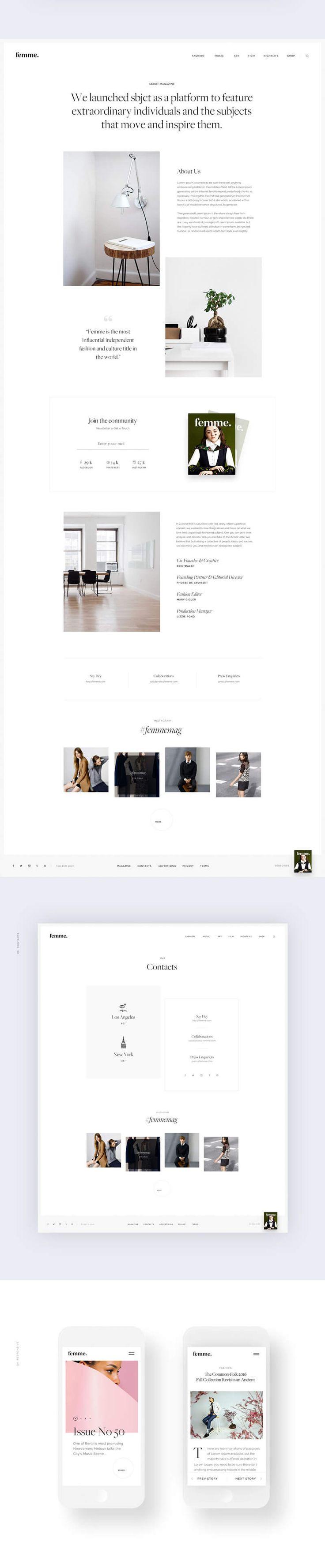 Femme5 #ui #ux#userexperience #website #webdesign #design