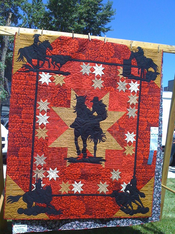 157 Best Images About Cowboy Quilts And Such On Pinterest