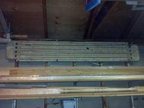 Used wood extendable scaffold planks.